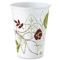 Hot Cups, Poly Lined, 12oz., 25/PK, Pathways/White