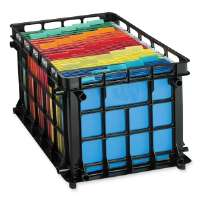 File Crate, Letter/Legal, 13-3/4x11-1/2x16-3/4, Black