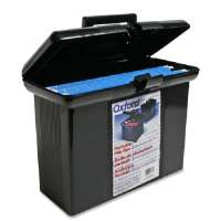 Portable File Box, 14Wx7-1/4Dx11H, Black