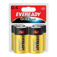 Alkaline Battery, D Size, 4/PK