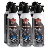 Dust-Off XL Compressed Gas Duster, 10 oz., 6/PK