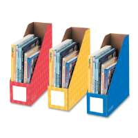 Magazine File Holders, Ltr, 4x11x12-1/4, 3/PK, Ast