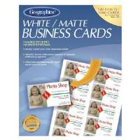 Business Cards,Laser/Inkjet,3-1/2x2,1000/PK,Matte,White