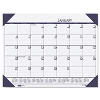 Desk Pad, 12 Month, Jan-Dec, 22x17, Blue
