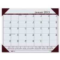Desk Pad, 12 Month, Jan-Dec, 22x17, Gray