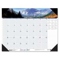 Desk Pad, Mountains, 12 Months, Jan-Dec, 18-1/2x13