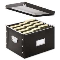Collapsible File Box,Letter/Legal,15x12-3/8x9-3/4,Black