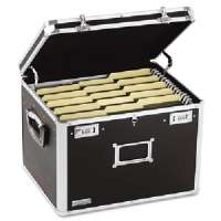 Locking Chest,w/ Handles,Ltr/Lgl,17-1/2x14x12-1/2,Black