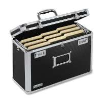Locking File Tote,Legal,16-3/4x7-1/4x12-1/4,Black/Chrome