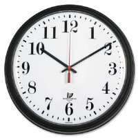 CHICAGO LIGHTHOUSE Wall Contract Clock,13-3/4,White Dial,Clear Crystal,Black