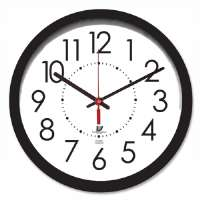 CHICAGO LIGHTHOUSE Electric Clock, 14-1/2, 5' Cord, Black Frame/White Dail