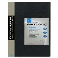 Art Portfolio, Top Load, 24 Sleeves, 8-1/2x11, Black