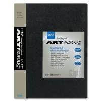 Art Portfolio, Top Load, 24 Sleeves, 9x12,Black