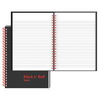 BLACK N' RED/JOHN DICKINSON Wirebound Book,Ruled,70 Sheets,8-1/4x5-7/8,BK/RD
