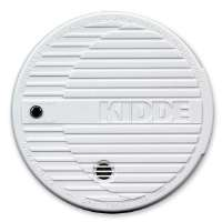 Smoke Alarm, Flashing LED, 9V Battery Included, White
