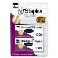 Standard Staples, Chisel Point, 1000/PK, Colored
