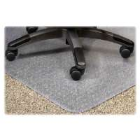 Chairmat, Wide, 46x60, 25x12 Lip, Clear