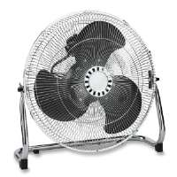 Heavy-Duty Floor Fan,18,3 Speed,23-3/4x8-1/2x22,Chrome