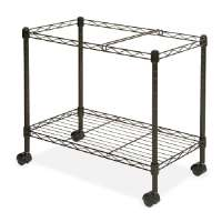 Mobile Filing Cart, Ltr/Lgl, 12-7/8x25-3/4x20-1/2, Black