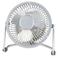 4 High Velocity Fan,1 Speed,3-3/4x6-2/4x7,6' Cord,Silver