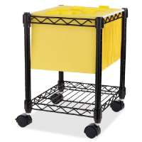 Compact Mobile Cart, 15-1/2x14x19-1/2, Black