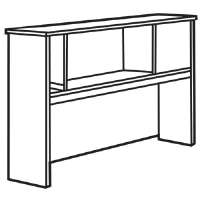 Modular Hutch, 55-1/4x15x36-1/2, Cherry