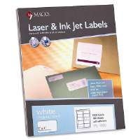MACO TAG & LABEL Shipping Labels, 2x4, 1000/BX, White