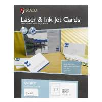 Business Cards, Laser/Inkjet, 3-1/2x2, 250/BX, White