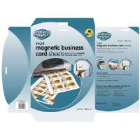 Magnectic business Card Sheets, 8-1/2x11, 3 Sheets/PK