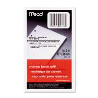 Memo Book Refill,Narrow Ruled,BHP,5x3,80 Sh,White