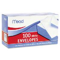 Plain Envelopes, Gummed, No 6-3/4, 100/BX, White