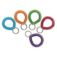 Wrist Coil With Key Ring, Assorted