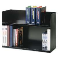Two Tier Book Rack, 29-1/8x10-3/8x20, Black