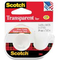 Tape With Dispenser, 3/4x300, Clear