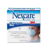 All-Purpose Mask, Filters 99 Percent Bacteria, 5/BX, Blue
