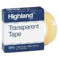 Transparent Tape, 1/2x1296, 1 Core, Clear