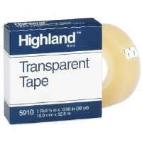 Transparent Tape, 3/4x1296, 1 Core, Clear