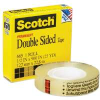 Double-sided Tape, 1Core, 1/2x900, Clear