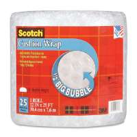 Cushion Wrap, 12x25', 1/2 Bubble, Clear