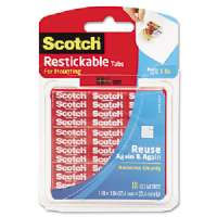Reusable Tabs, Adhesive, 1x1, 18 Squares/PK, Clear