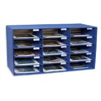 Mail Box, 15 Slots, 12-1/2x10x3, Blue