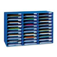 PACON CORPORATION Mail Box, 30 Slots, 12-1/2x10x1-3/4, Blue