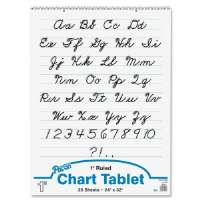 Chart Tablet,Cursive Cover,1 Ruled,24x32,25 Sh,WE