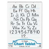 Chart Tablet,Manuscript Cover,1-1/2 Ruled,24x32,25 Sh,WE