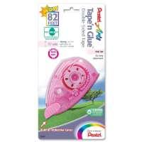 Tape'n Glue Tape,Double-sided,Permanent,8.4mmx984,Pink Tint