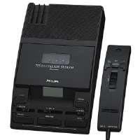 Speech Transcriber/Dictation System,5-1/3x9-1/10x2,Black