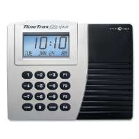 Time/Attendance System, w/ 15 Time Cards, Gray/Black