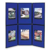 6 Panel Floor/Tabletop Display, 72x72, Blue