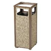 Sand Urn Litter Receptacle, 12 Gallon, 13-1/2Sqx32H,Brown