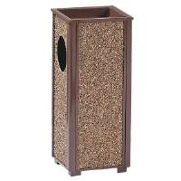 Sand Urn Litter Receptacle, 2-1/2 Gallon, 10Sqx24H, Brown